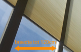 veranda zonwering crème 100-120 cm