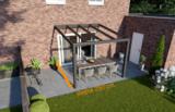 veranda nice en easy antraciet glas 300x250 cm diepte