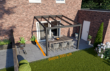 veranda nice en easy antraciet glas 300x300 cm diepte
