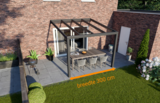 veranda nice en easy antraciet glas 300x300 cm breedte
