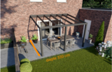 veranda nice en easy antraciet glas 400x330 cm diepte