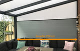 aluminium zijwand nice en easy spie polycarbonaat 250 cm breedte