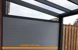 aluminium zijwand nice en easy spie glas 250 cm breedte