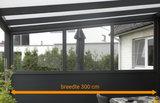 aluminium zijwand nice en easy borstwering glas 300 cm breedte