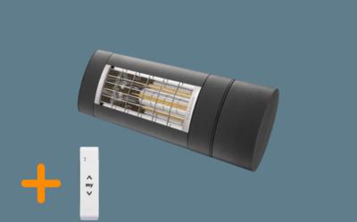 Terrasverwarming Warm & Cosy 2000W Antraciet met afstandsbediening