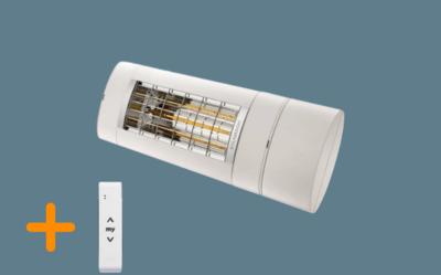 Terrasverwarming Warm & Cosy 2000W Wit met afstandsbediening