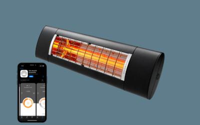 Terrasverwarming Warm & Cosy 2500W Antraciet Bluetooth